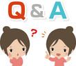 Q&Aと若い女性のイメージ