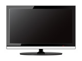 Vector illustration of a lcd monitor.