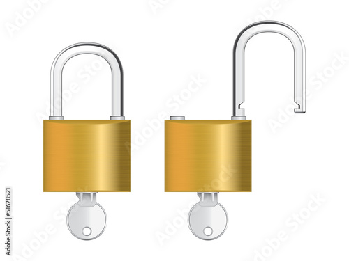Vector illustration of padlock