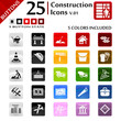 Construction icons set, button series