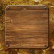 Fond grunge et plaque de bois