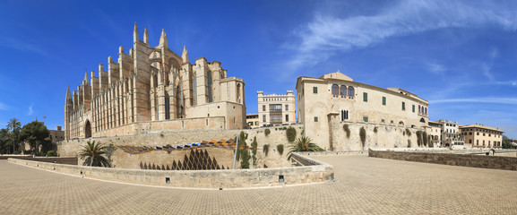 Palma Cathedral Old City Walls Majorca