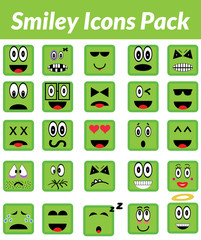Smiley Icons Pack (Green)
