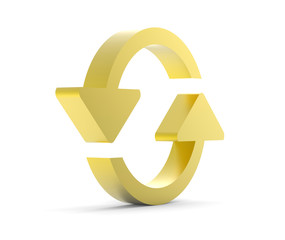 gold refresh icon 3D