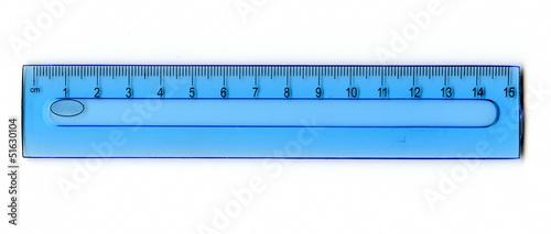 Leinwandbild Motiv Blue ruler