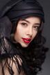 Portrait of a woman in turban