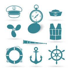 Set of nautic symbols