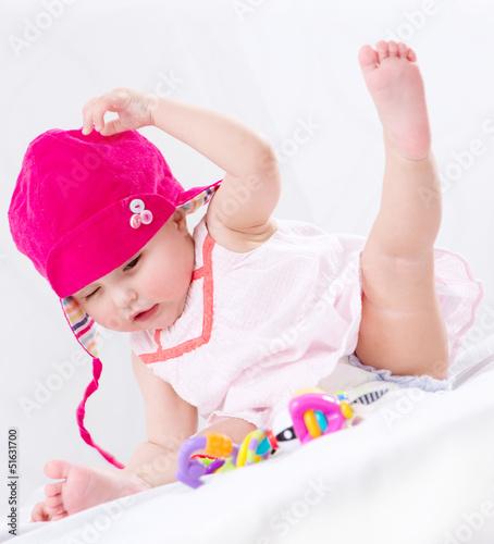 Baby. Cute Baby Girl Portrait