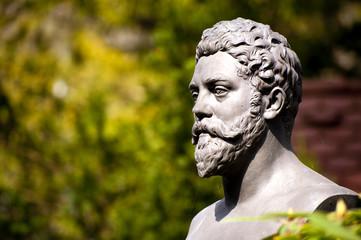 Denkmal Villa Borghese in Rom Statue