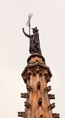 St Eulalia Statue Spire Catholic Barcelona Cathedral Catalonia