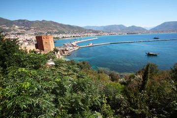 Harbour of Alanya city. Turkey