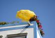 Sonnenschirm auf einem Dach