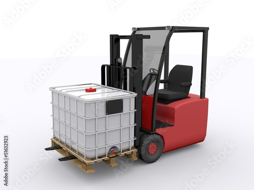 IBC Container mit Gabelstapler