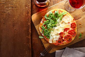 Patriotic tricolore Italian pizza