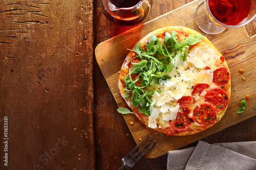 Patriotic tricolore Italian pizza