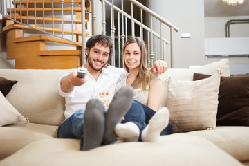 Couple watching a movie