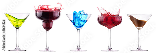 alcoholic cocktails set