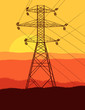 High Voltage Tower And Line Ba...