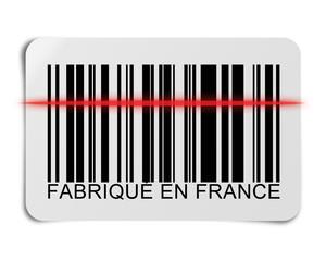 """Code barre """"Fabriqué en France"""""""