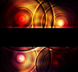 Abstract background neon futuristic vector template for poster