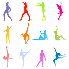 Gymnasts on a white background vector concept