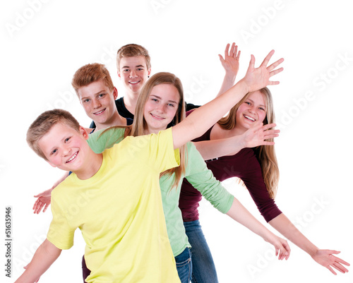 Gruppe Jugendliche