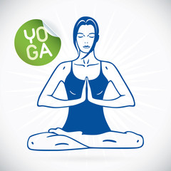 Yoga Fitness Model Illustration, Sign, Symbol