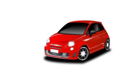 City car sportiva rossa