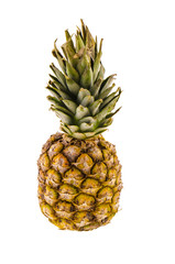 Ripe pineapple isolated on white