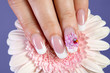 Beautiful manicure with flower design