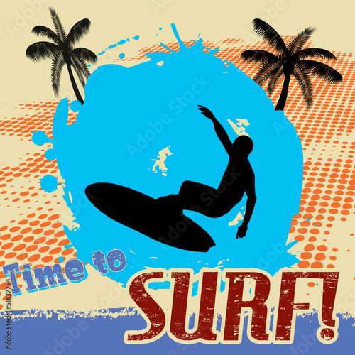 Time to surf  poster