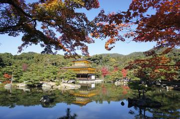Kinkakuji Golden Pavilion Temple in Kyoto, Japan