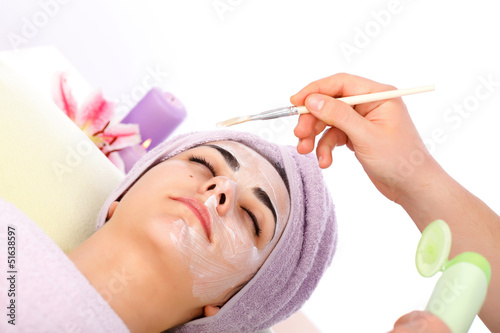 Applying Facial Mask