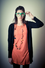 beautiful fashion hipster girl