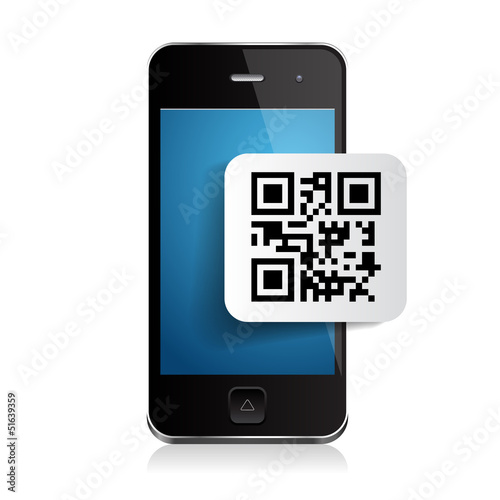 Samrtphone and qr code label