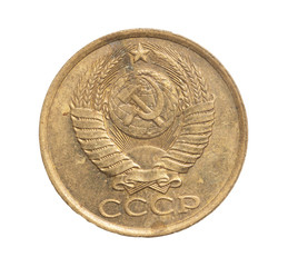 USSR coins on a white background