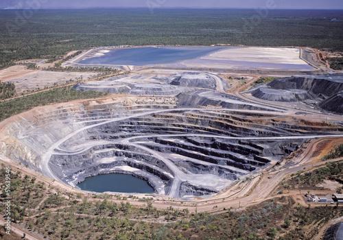 Fotobehang Luchtfoto Uranium mine