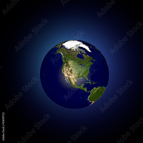 Mondo terra globo America del Nord