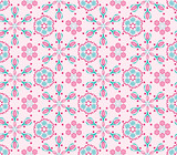 Seamless  pattern with pink background