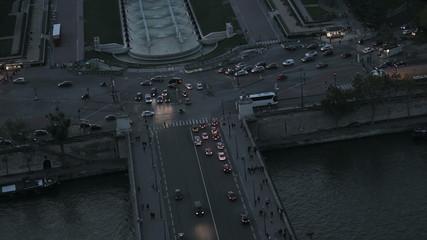 Йенский мост и площадь Трокадеро в Париже.