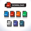 Documents Icons Download button
