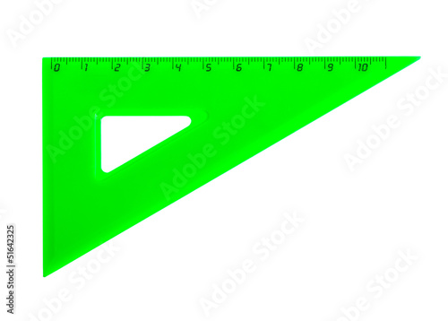a green school triangle