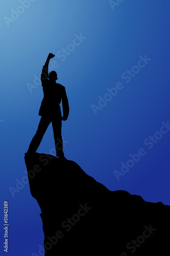 silhouette of a seccess man