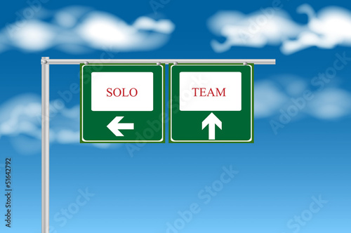 Team or individual, solo sign