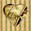 Vintage Heart - Dollar