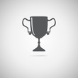 black trophy icon, Vector  illustration