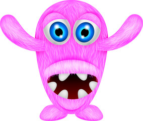 scary pink monster