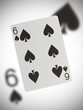 Playing card, six of spades