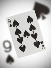 Playing card, nine of spades