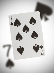 Playing card, seven of spades